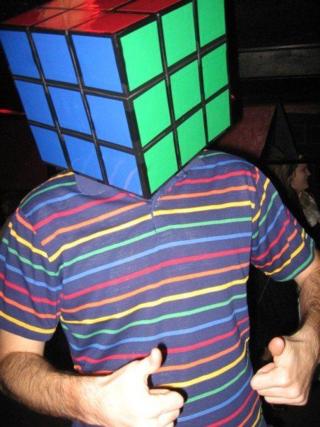 Rubics cube head